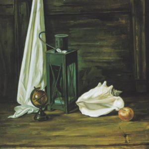 Still Life with a Lamp. 1992, oil on canvas, 70 x 70