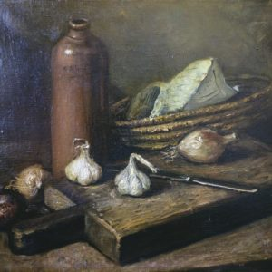 Still Life with Bottle. 1976, oil on canvas, 60x40 (Private Collection, Israel)