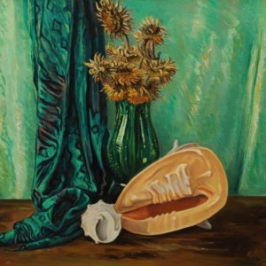 Sunflowers and Shells. 2006, oil on canvas, 63x70