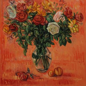 Vase of Roses. 2005, oil on canvas, 70x70