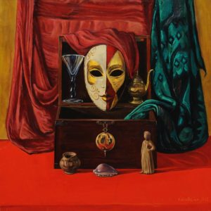 "Meditation, from ""Venetian Masks"" cycle. 2007, oil on canvas, 70x70"