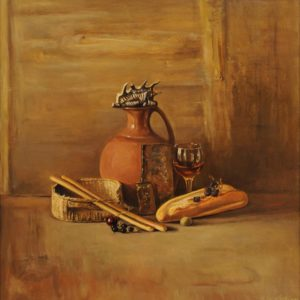 Bread and Wine. 2002, oil on canvas, 76x70