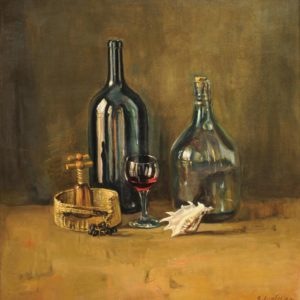 Still Life with Bottles. 2002, oil on canvas, 75x70