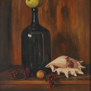 Stiil life with an Apple, oil on canvas, 60x50 A. Nalbandyan Collection)