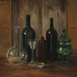 Composition with Bottles. 2005, oil on canvas, 70x70