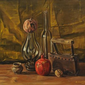 Still Life with Pomegranates. 1999. oil on canvas, 55x60 (R. Davoyan Collection, Yerevan)