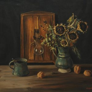 Still Life with Sunflowers. 1993, oil on canvas, 60x70 (V. Markosyan Collection, Yerevan)