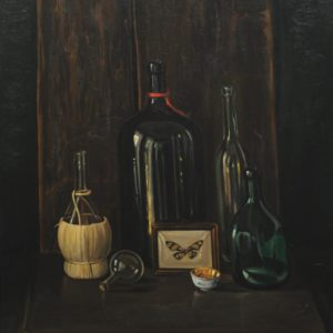 Still Life with Bottles. 1999, oil on canvas, 75x70, (V. Markosyan Collection, Yerevan)