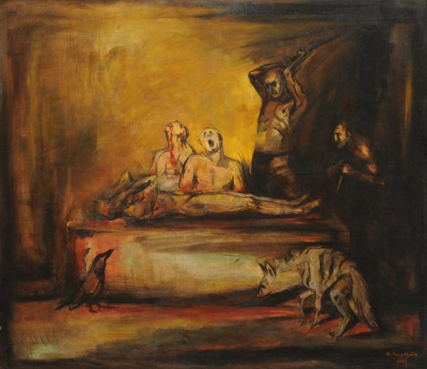 Feast of the Hyenas. 1989, oil on canvas, 105x110