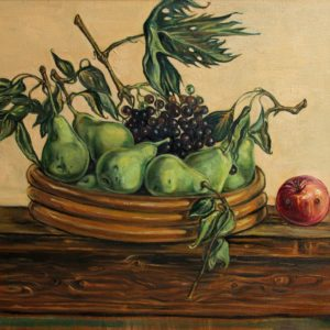 Still life with Autumn fruits. 2010, oil on canvas, 50x70