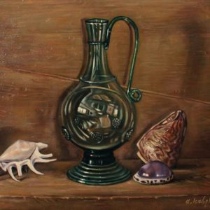 Still life with a lamp, 1992, oil on canvas, 70x70 (Private Collection, Yerevan)