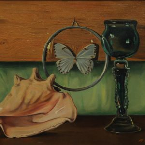 Still Life with a Butterfly. 1995, oil on canvas, 49x39