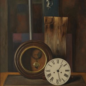 Clock from Igdir. 1983, oil on canvas, 100x85, (The National Gallery of Armenia)