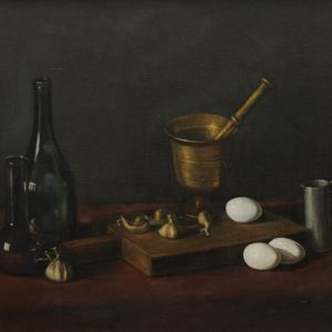 Still Life with Mortar. 1978, oil on canvas, 55x66 (The National Gallery of Armenia)