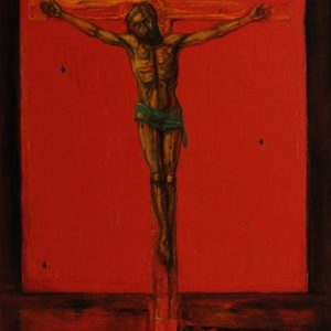 Wooden Christ on the Cross. 1996, oil on canvas, 100x80