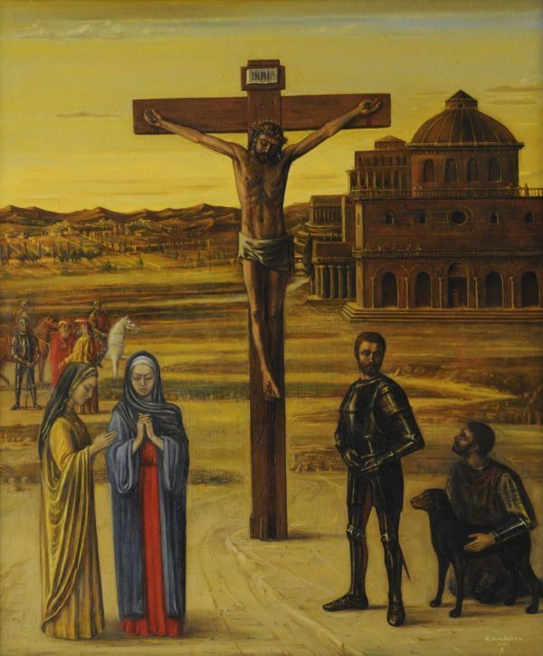 Christ on the Cross. 2001, oil on canvas, 130x115