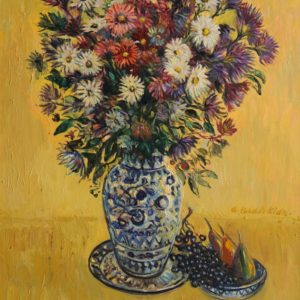 "Big bunch of flowers. from ""My Garden cycle, 2009, oil on canvas, 86x74"
