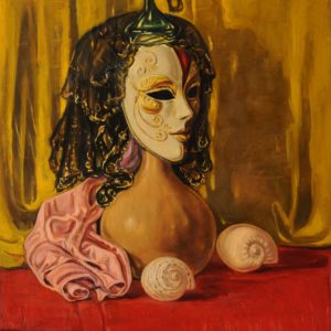 "Portrait from ""Venetian Masks"" cycle. 1997, oil on canvas, 60 x 55"
