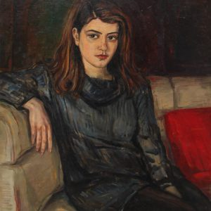 Portrait of Huri Araqelyan․ 1993, oil on canvas, 70x60