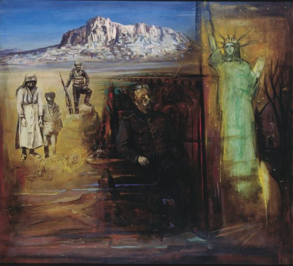 Portrait of Zoravar Andranik. 1990, oil on canvas, 110x100 (Ministry of Defense of the Republic of Armenia, Yerevan)