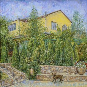 Rocky and the House in Ashtarak. 2011, oil on canvas, 88x80