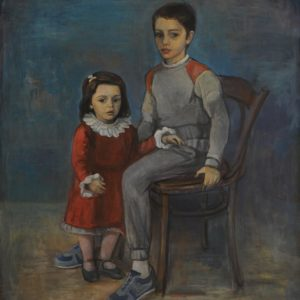 My Children: Mher and Anna. 1986, oil on canvas, 130x115