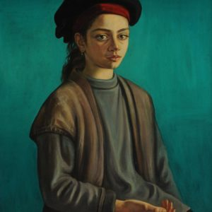 Anna against Green Background. 1997, oil on canvas, 75x57,5, 5
