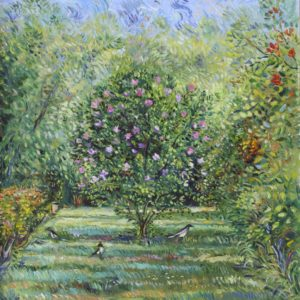The Magpie in the Garden. 2011, oil on canvas, 70x60