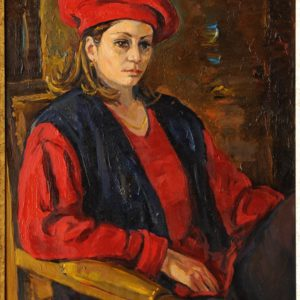 Model in a Hat. 2003, oil on canvas, 46x55