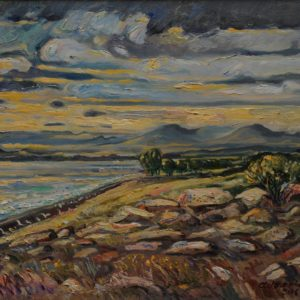 A cloudy day in Sevan․ 2006, oil on canvas, 35x40