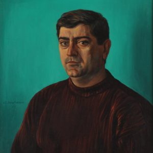 Portrait of Avetis Nalbandian. 1977, oil on canvas, 60 x 55 (A. Nalbandyan Collection)