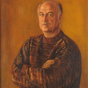 Portrait of Artashes Geghamian. 2000, oil on canvas, 80x60 (A. Geghamian Collection)
