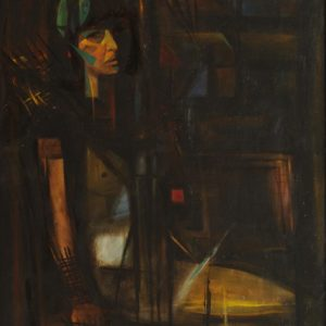 Portrait of Irina. 1990, oil on canvas, 80x60