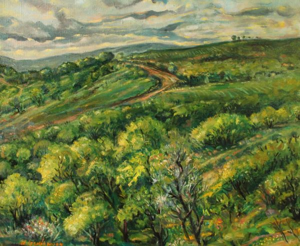 Road in the mountains of Tavush. 2011, oil on canvas, 45x54