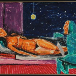 Evening Visit (2nd version). 1997, pastel on paper, 18x27