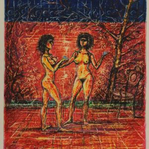 The Two in the Garden. 1992, pastel on paper, 26x21