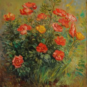 Roses. 2010, oil on canvas, 70x60
