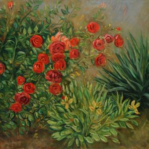 Roses and Yukka. 2010, oil on canvas, 65x81