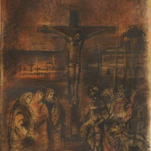 Crucifixion. 1994, pastel on paper, 43x32