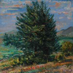 A big tree on the shores of Sevan․ 2006, oil on canvas, 60x50