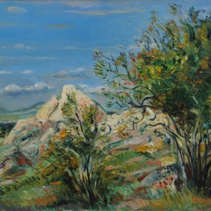 White cliff, In Sevan, 2006, oil on canvas, 50x60