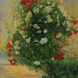 Roses Against the Swimming-Pool. 2010, oil on canvas, 81x65
