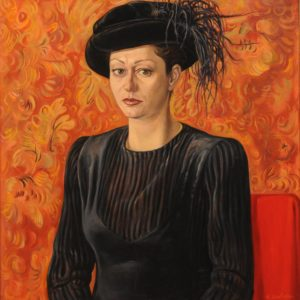 Woman in Florentine Hat. 2001, oil on canvas, 75x70