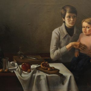 Family. 1979, oil on canvas, 85x100 (National Gallery of Armenia)