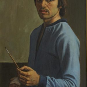 Self-Portrait. 1980, oil on canvas, 90x56 (National Gallery of Armenia)