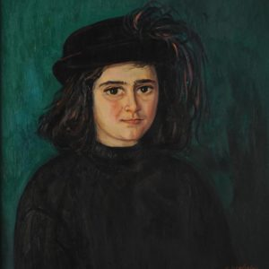 Portrait of Marina. 2000, oil on canvas, 60 x 55 L. Sargsyan Collection, Yerevan)