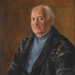 Portrait of Aleksan Kirakossian. 1998, oil on canvas, 80x65 (A. Kirakosyan Collection, Yerevan)