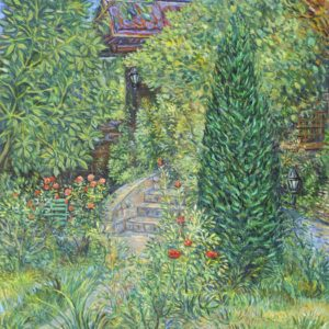 A Corner of Blossomed Garden. 2011, oil on canvas, 70x63