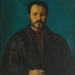 Portrait of Painter Varouzhan Vardanian. 1998, oil on canvas, 100x80