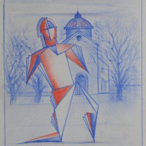 Sketches. 1990-1998, mixed media